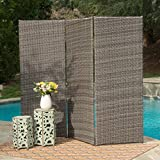 Osage Outdoor Wicker Privacy Screen (Mixed Brown)