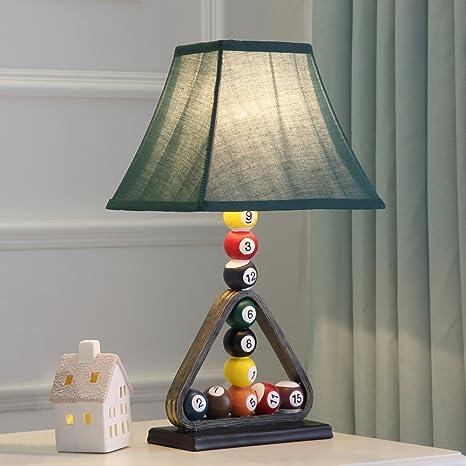 Decorativo billar lámpara de mesa, personalidad lámparas de ...