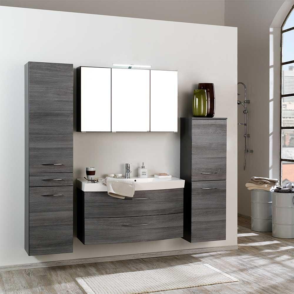 Badezimmer Komplettset Blacingos in Eiche Grau modern (4-teilig ...