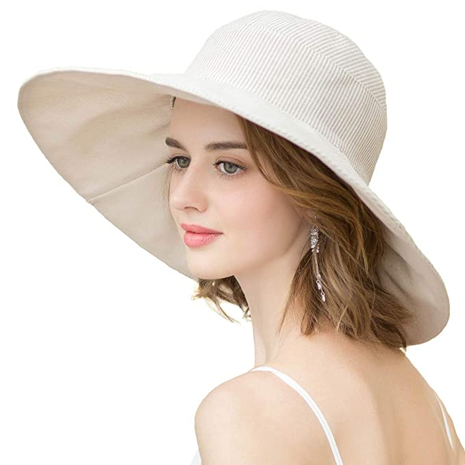 3b6a7cfa6 Image Unavailable. Image not available for. Color: Sun Hats for Women  Roll-up Wide Brim Summer ...