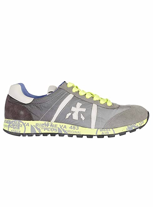 Premiata Herren LUCY1313 Grau Polyamid Sneakers  Amazon.de  Schuhe ... 9cfc05c95b