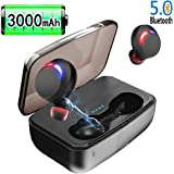 Wireless Earbuds, JoyGeek 5.0 Bluetooth Earphones 3000mAh TWS True Wireless Headphones Waterproof in Ear Buds with Mic 80H Playtime Sports Running Headset for Apple iPhone Samsung Huawei Sony