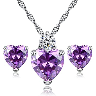 christmas gifts you are my queen purple love heart pendant necklace for girlfriend love