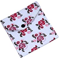 Bullidea 1 Pcs Lady Girl Floral Sanitary Towel Napkin Pad Purse Holder Easy Bag Organizer