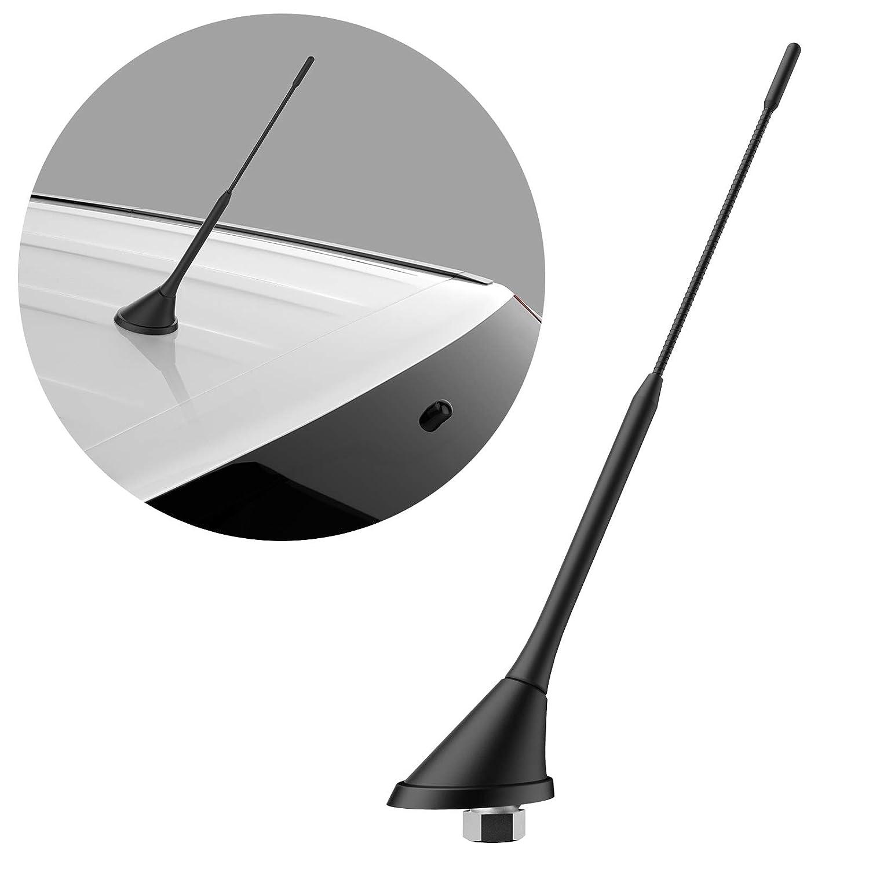 NAVITEC24 DAB Antenne Autoradio DIGIATAL DAB+ 5m Kabel mit Verstä rker DIN und SMB Adapter fü r Autoradio DAB Plus 23cm Antennenstab