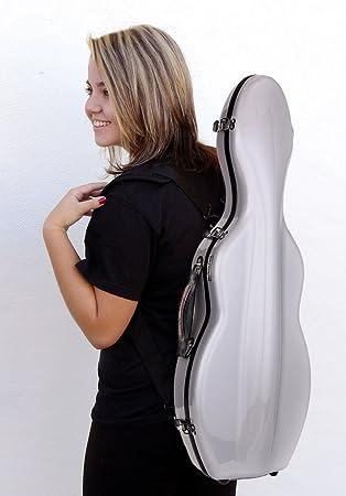 Estuche para violín fiberglass Tonareli 4/4 VNF1004 PLATA + ...