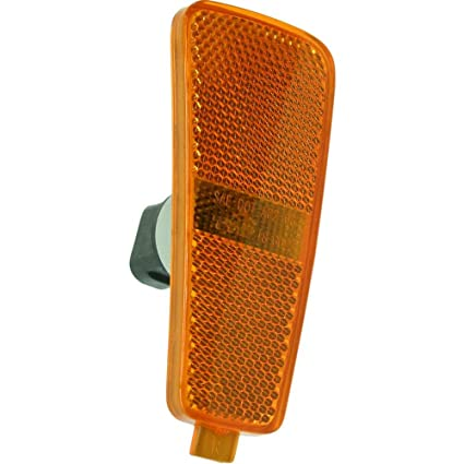 Side Marker Light Lamp Amber Lens w//Bulb Front Left Side compatible with Dodge Charger s