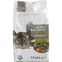 Aime Aliment Complet Chinchilla, NUTRI'BALANCE Expert, Repas Premium varié vitamines et Digestion optimale, 800G