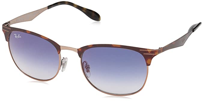68f5dbc84 Ray-Ban 0rb3538 Square Sunglasses, Copper on Top Havana, 53 mm:  Amazon.co.uk: Clothing