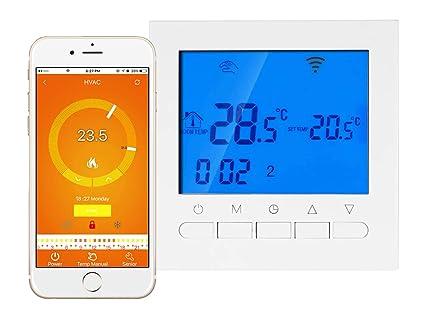 Termostato Digital para Calefacción eléctrica estufa calefactor Wifi Compatible con arias Echo y Google Home pantalla