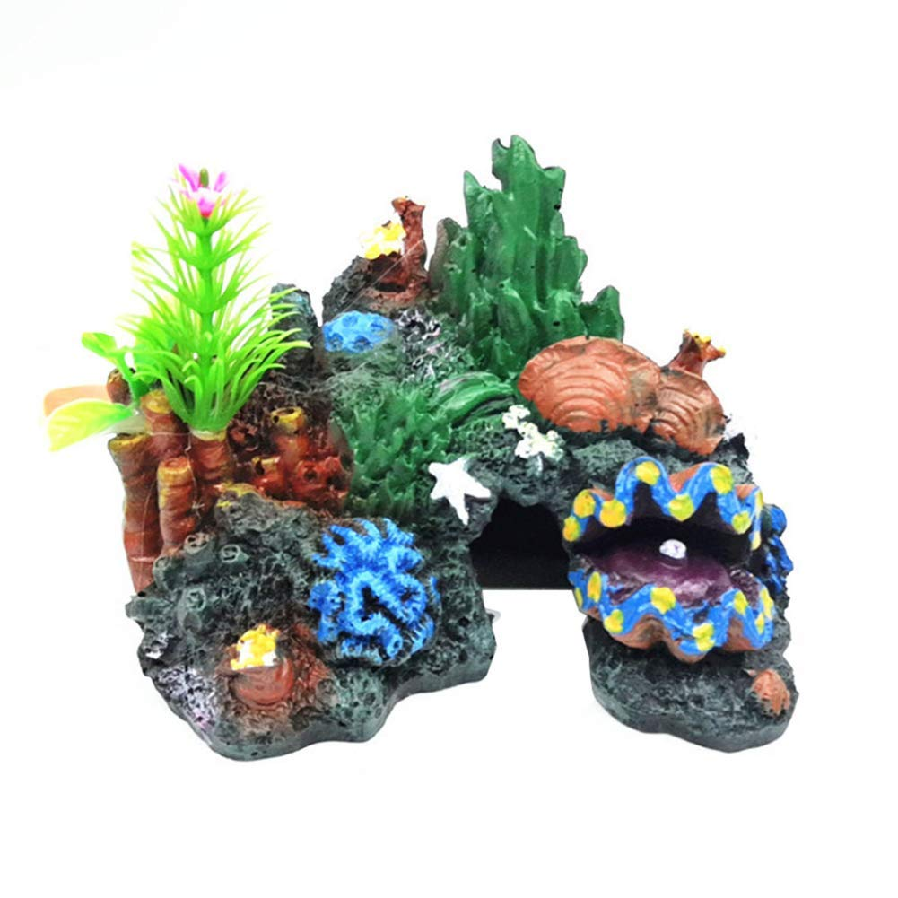 Yevison Fish Tank Ornament Resin Artificial Cave Coral Rockery Landscaping Decoration Multicolor Premium Quality by Yevison