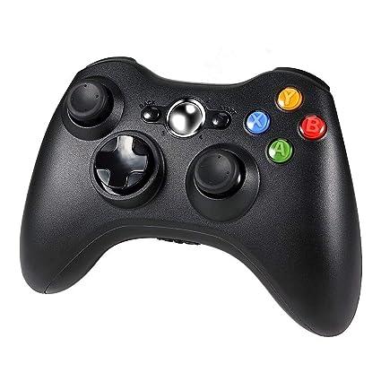 Diswoe Xbox 360 Controlador de Gamepad, Xbox 360 Inalámbrico Gamepad Controlador Joypad con Vibración Doble Ergonomía para Consola Microsoft Xbox 360, ...