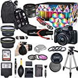 Canon EOS M50 Mirrorless Digital Camera with 15-45mm Lens Kit (Black) + Wide Angle...