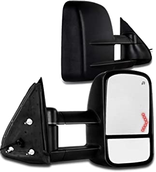 Aftermarket Towing Mirrors 2003-2007 Chevy//GMC Silverado//Sierra Power Heated Signal Side Mirror Pair 2004 2005 2006 Models 07 Classic