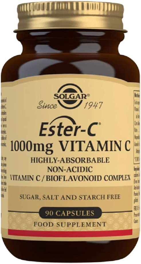 Solgar Ester C 1000 Mg Vitamin C Capsules Pack Of 90 Amazon Co Uk Health Personal Care
