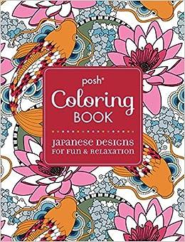 Amazon.com: Posh Adult Coloring Book: Japanese Designs for Fun ...