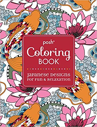 Buy Posh Adult Coloring Book Japanese Designs For Fun Relaxation Books Online At Low Prices In India