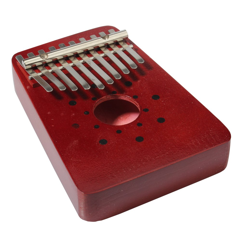 REAMTOP 10 Keys Birch Finger Thumb Piano Mbira Music Story Telling Instrument (Red)