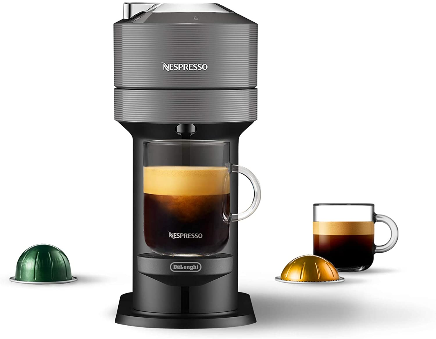 Nespresso by De'Longhi ENV120GY Vertuo Next Coffee and Espresso Maker, Machine only, Dark Gray