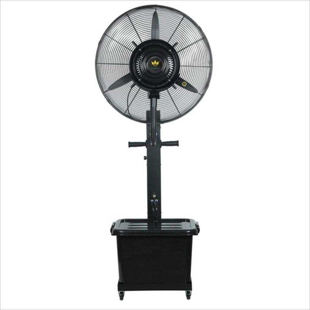 LBYMYB Industrial Fan Spray Cooling Water Fan Floor Shaking Head Speaker Fan Mini Fan (Color : Black, Size : Blade Diameter: 75 cm)