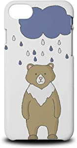 Foxercases Design (2020) #1 Bear and Raindrops Hard Phone Case Cover for Apple iPhone 7/8 / SE (2020)