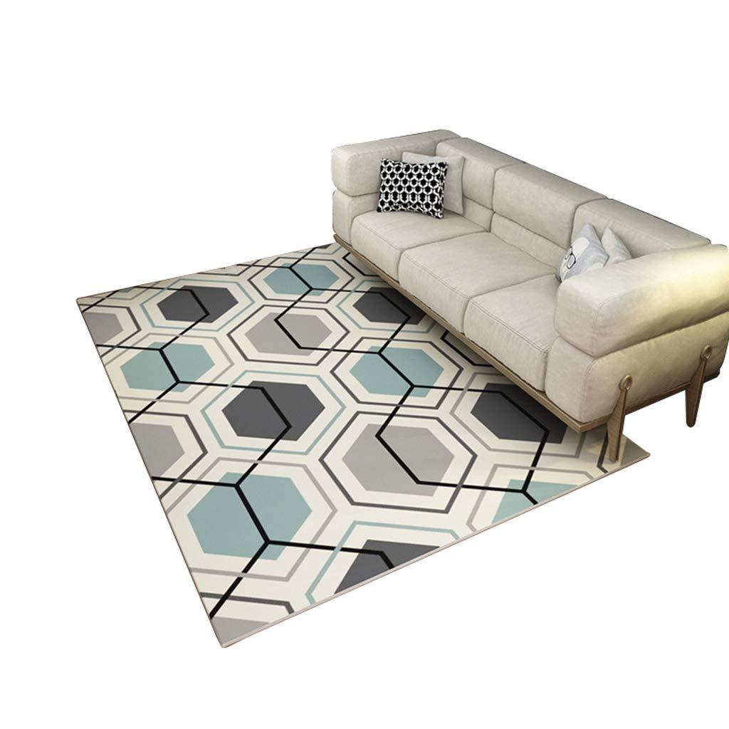 Tappeto stile nordico Design moderno e minimalista Tappeto soggiorno (dimensioni : 120×160cm) ZRXian-tappeto