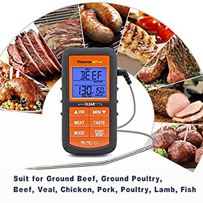 ThermoPro TP06S Digital Grill Meat Thermometer with Probe for Smoker Grilling Food BBQ Thermometer by ThermoPro