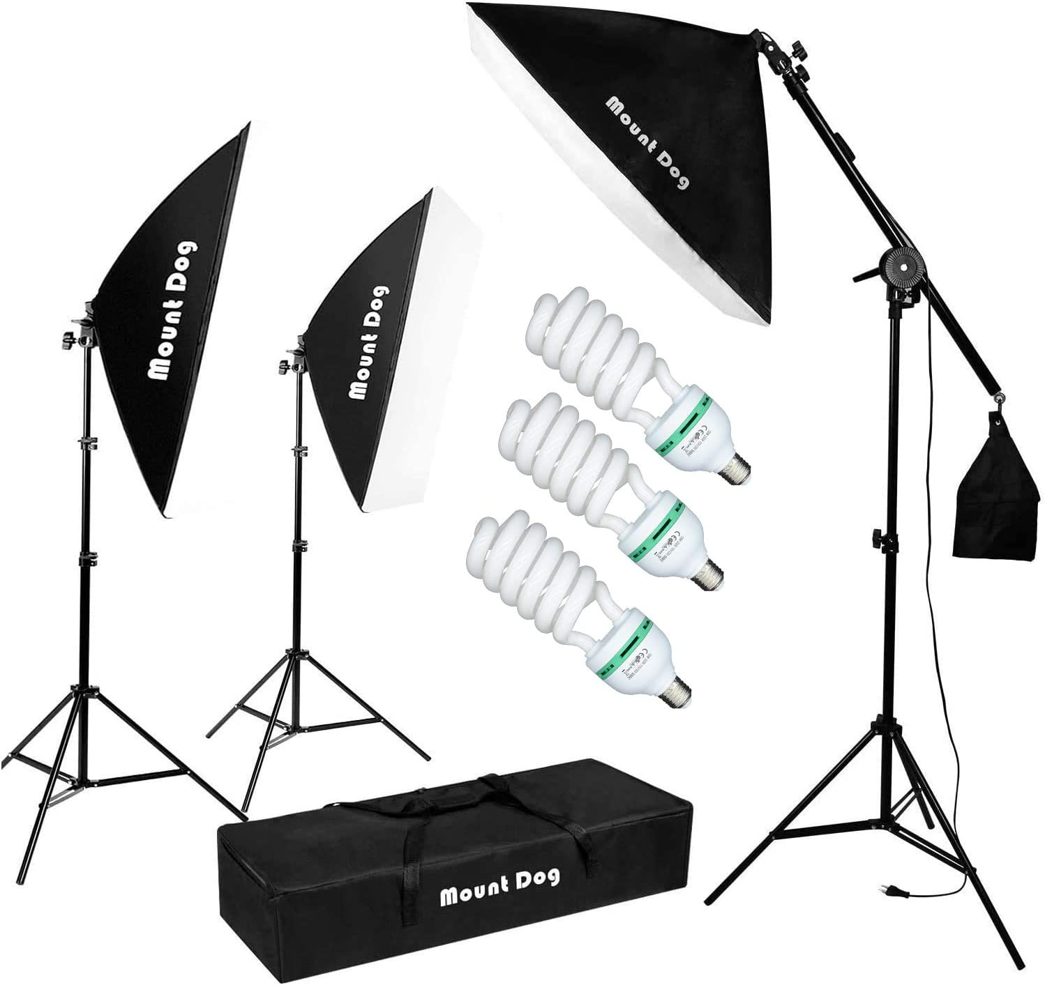 Camera Stand CanadianStudio Studio in A Box Photo Lighting Photography Set Continuous Light Kit 2 Lights 16 Light Tent with 4 pcs backdrops
