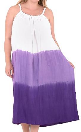 f27cbca4efd8 La Leela Rayon Tie Dye Hawaiian Bride Cruise Skirt Slit OSFM 14-18 [L