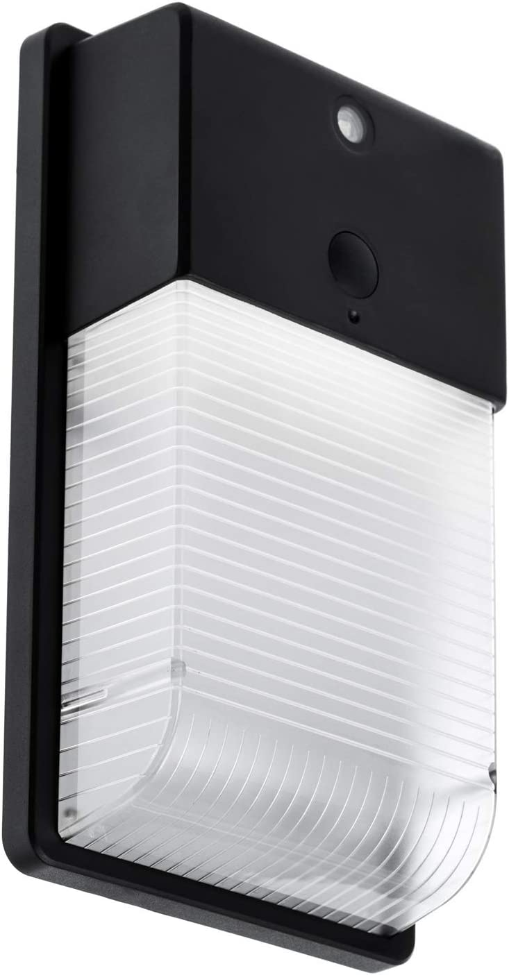 Home Zone Security LED Wall Pack Light - Outdoor Hardwired Dusk to Dawn Ultra Bright 3000K Warm LED Wall Light