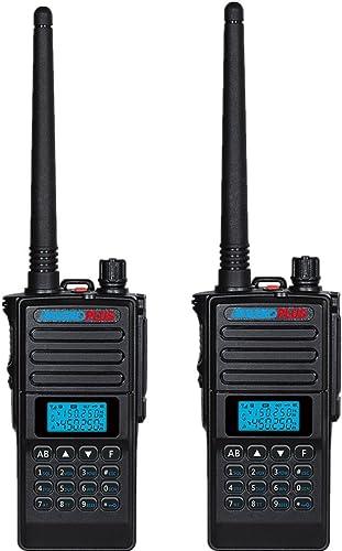 RADIOPLUS UV-8000 5W Dual Band Two Way Radio Dual Display Dual Standby Amateur Radio Pack of 2