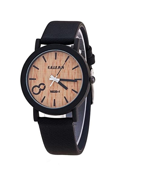 Feifan - Reloj estilo madera negro