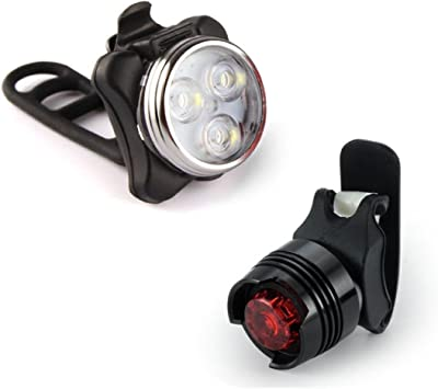 Koly Luz recargable de la bici del LED Conjunto de lámpara de ...