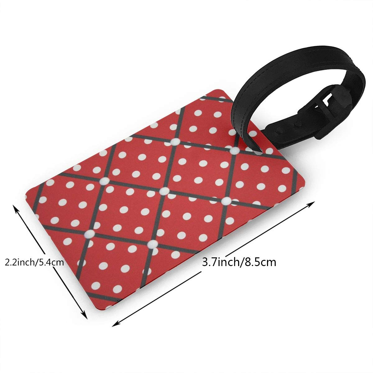 Luggage Tags Red White Polka Dot Suitcase Tags Holder Customized Travel Gifts Labels Travel Accessories