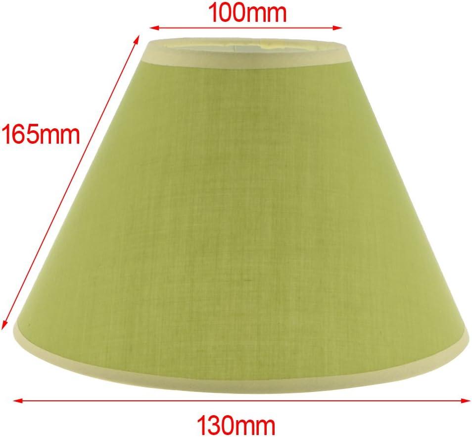Stehlampe Beige SunniMix 2x E27 Lampenschirm Stoffschirm f/ür Tischlampe