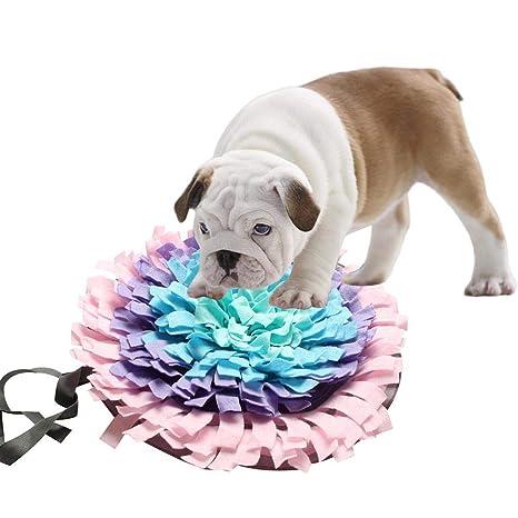 Urben Life Dog Snuffle Mat Perro Redondo Snuffle Alimentar Estera Lavable Entrenamiento Piecing Manta Mascota Jugar
