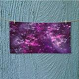 Microfiber Towel Nebula Gas Cloud Deep Dark in with Star Clusters Infinity Solar Sky Print High Absorbency L27.5 x W11.8 inch