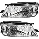 Driver and Passenger Headlights Headlamps Replacement for Nissan 260600L725 260100L725
