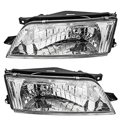 Driver and Passenger Headlights Headlamps Replacement for Nissan 260600L725 260100L725 - Replacement Nissan Headlamp