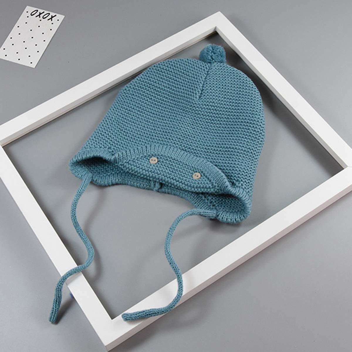 puseky Baby Hats and Scarfs Infant Boys Girls Pom Pom Knit Winter Warm Beanie Cap /& Scarf Neckwarmer Set