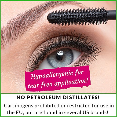 Natural Mineral Mascara | Made w Organic Ingredients | Non GMO | Hypoallergenic for Sensitive Eyes | Add Length & Volume | Vegan | Cruelty Free | Soften, Nourish & Grow Better Lashes! by Skin2Spirit (Image #3)