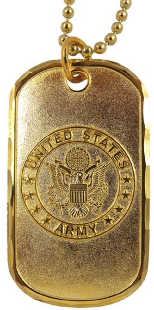 Dog Tag Key Chain Necklace United States Army Emblem US Military