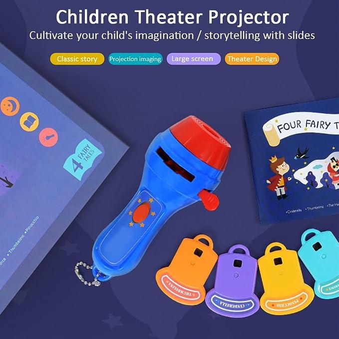 Linternas Proyector para niños Libro de cuentos Antorcha Noche Luz ...
