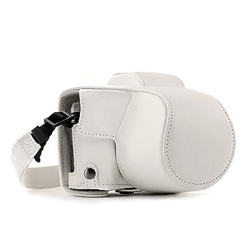 MegaGear MG1349 Estuche para cámara fotográfica - Funda (Funda, Polycom, OM-D E-M10 Mark III (14-42mm), Tirante para Hombro, Blanco)