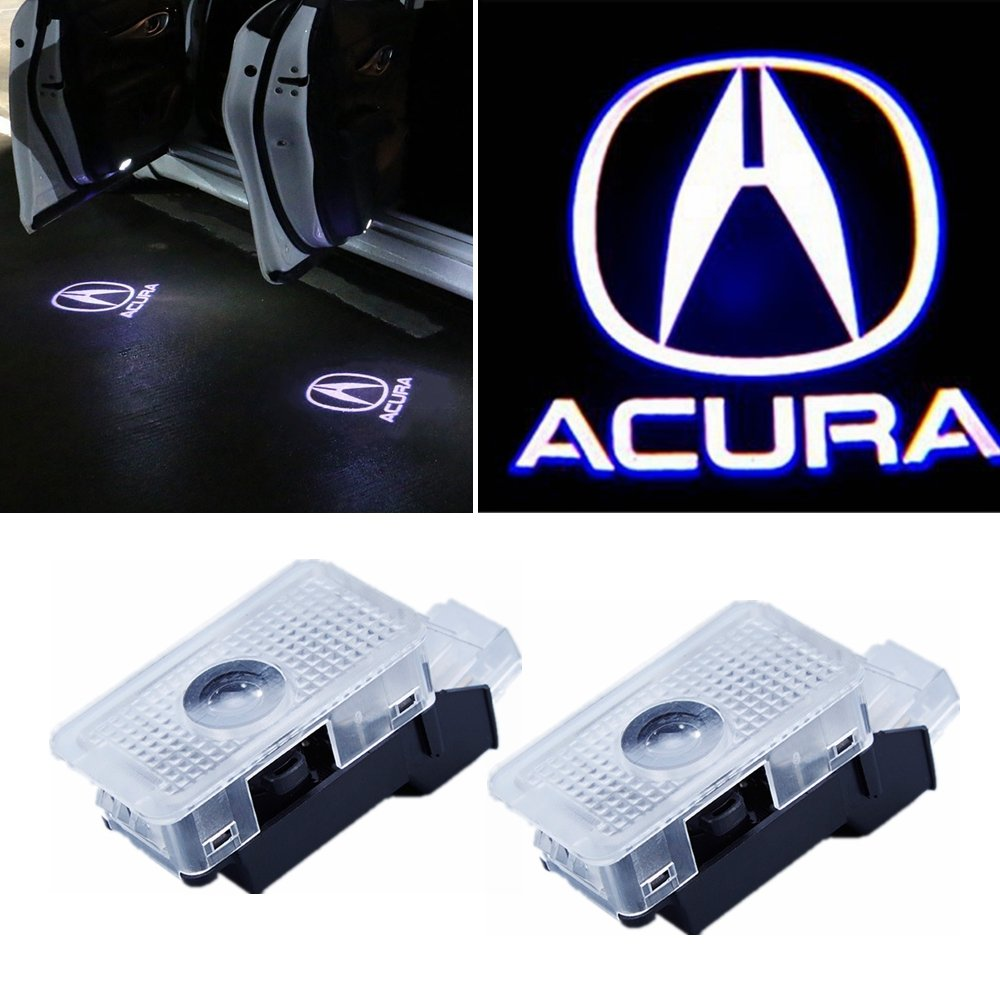 2 Pieces Car Door LED Logo Projector Ghost Shadow Lights Welcome Lamp Easy Installation for Acura by GANKING