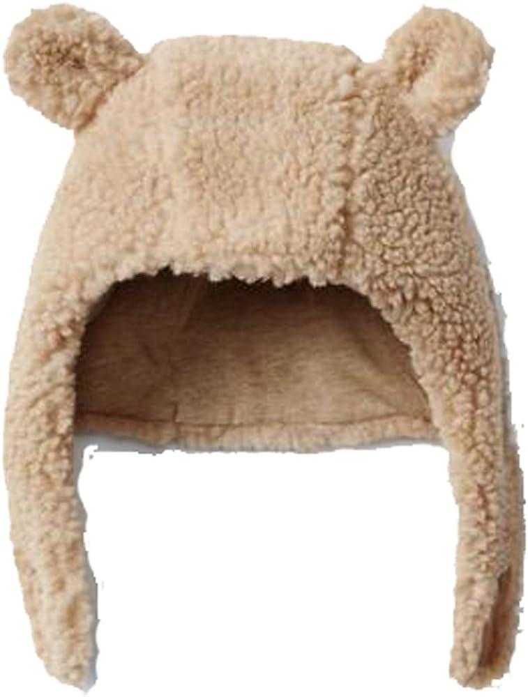 Toddler Girl 12-18 Months Light Pink Fleece Bear Hat Mitten Set GAP Baby