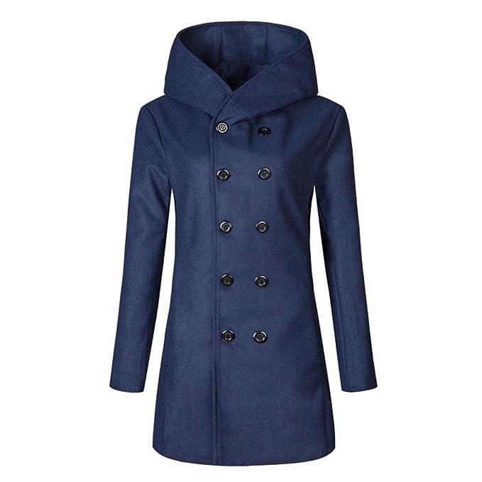 Escudo, abrigo, Internet Las mujeres con capucha de la capa del invierno de la gabardina Outwear cubren la chaqueta larga con capucha: Amazon.es: Ropa y ...
