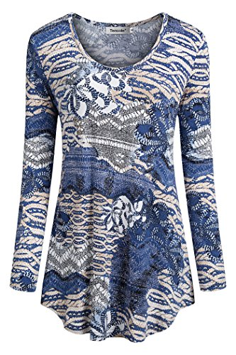 Tencole Sweatshirts for Women,Womens Print Dressy Shirt