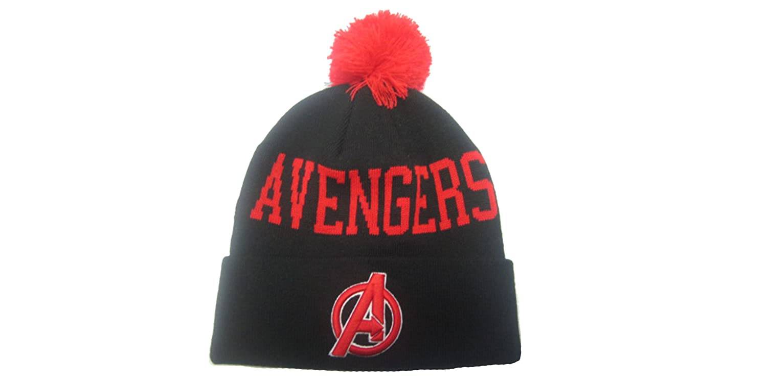 The Avengers Marvel Bobble Beanie Black at Amazon Women s Clothing store  aad6b0d4a9a