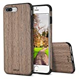 iPhone 7 Plus Case, BELK [Air To Beat] Non Slip Soft Wood Slim Bumper, Scratch Resistant Grip Ultra Light TPU Snap Back Cover with Rubber Corner for Apple iPhone 7 Plus - Walnut